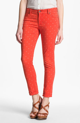 Two by Vince Camuto &#039;Shorty&#039; Star Print Jeans (Fiery Red)