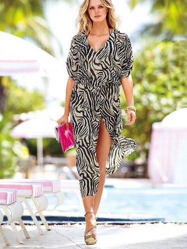 Very Sexy Zebra-print Caftan