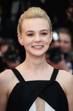 Apricot shadow and neutral lipstick highlighted Carey Mulligan's natural beauty at the premiere of Inside Llewyn Davis.