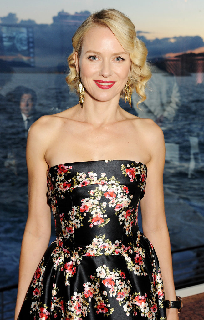 Naomi Watts opted for vintage glamour at the For the Love of Cinema event, pairing a curly bob with tomato-red lipstick.