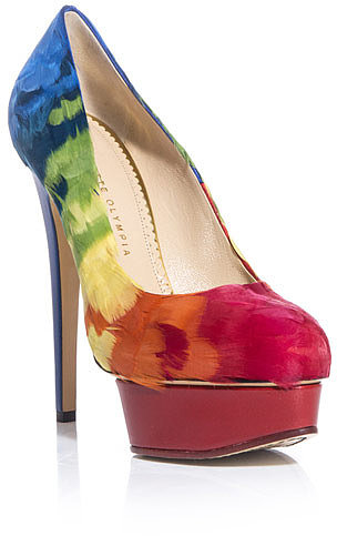Charlotte Olympia Dolly feathers shoes