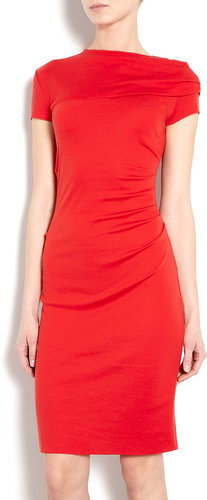 Joseph Red Exclusive Maria Wool Interlock Dress