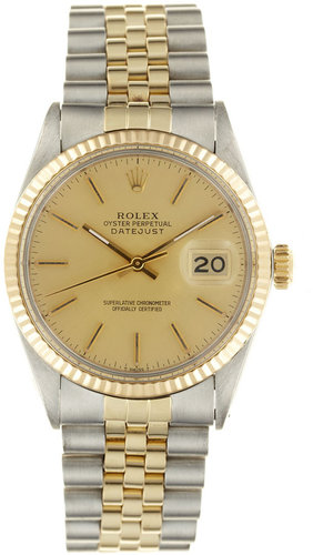 Rolex Stainless-Steel and 18k Yellow Gold Datejust Watch (c. 1980s)