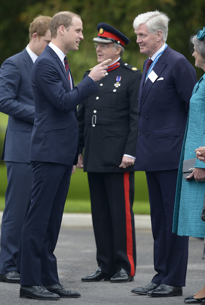 Prince William and Prince Harry visited a Help For Heroes recovery center in Tidworth, England, today.
