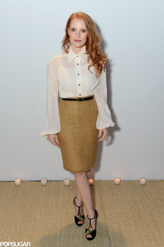 Jessica Chastain attended the Vanity Fair and Chanel dinner in Cannes.