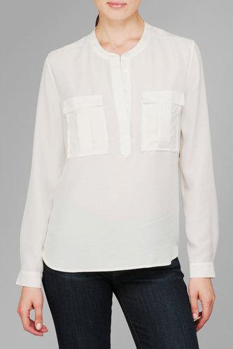 Double Pocket Henely In Blanc De Blanc