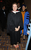 Lena Dunham mingled with Barnard professors and guests.