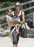 Denise Richards took her daughter Eloise, along with Lola and Sam, horseback riding in LA.