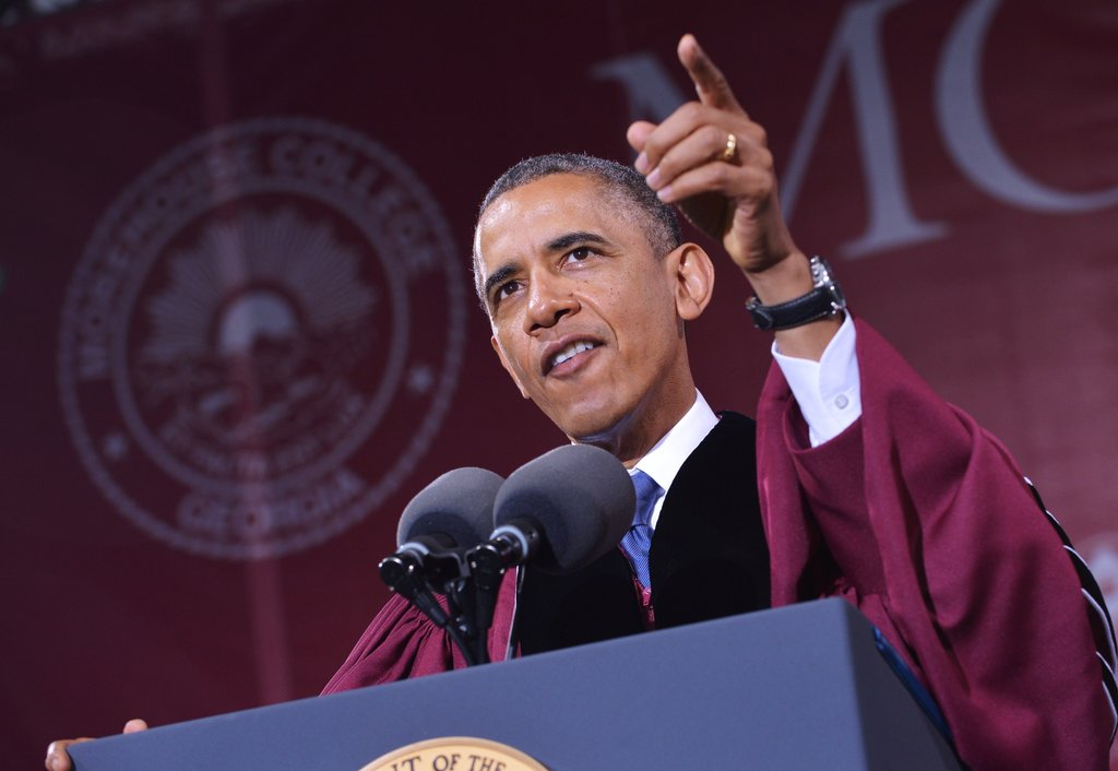 The president delivered his remarks at Morehouse College.