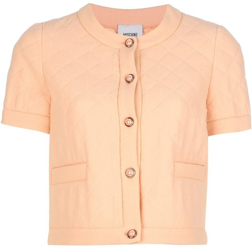 Moschino Cheap & Chic Quilted cropped jacket