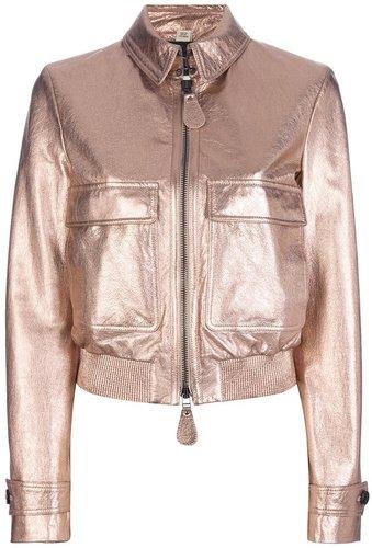 Burberry London metallic cropped jacket