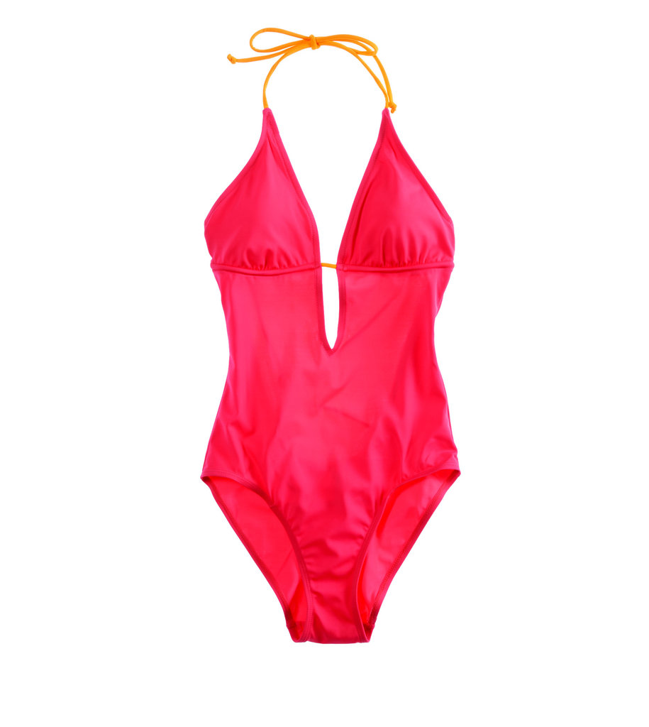 A sexy cut and bright red hue make this Aerie halter style the 21st century version of the Baywatch suit.
