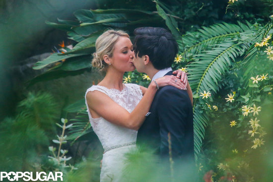 30 Rock's Katrina Bowden married her fiancé, Ben Jorgensen, in Brooklyn.