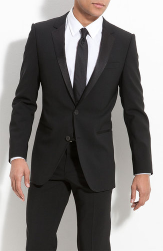 HUGO 'Aikin Hollo' Trim Fit Wool Tuxedo (Free Next Day Shipping) (Online Exclusive)