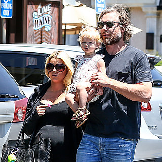 Jessica Simpson With Eric and Maxwell in LA