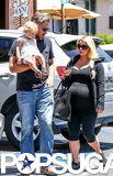 Eric Johnson carried Maxwell while Jessica Simpson walked behind them in LA.