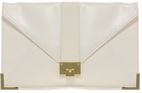 ASOS Clutch Bag With Lizard Strap And Fitting
