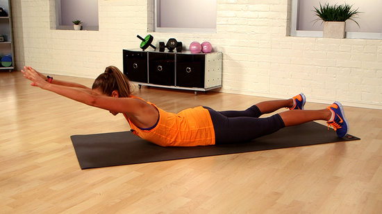 One-Minute Bikini-Body Challenge: Lying Overhead Reach