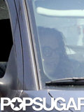 Kristen Stewart had a friend drive her around LA.