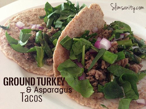 Ground Turkey and Asparagus Tacos