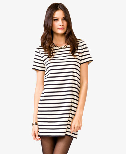 FOREVER 21 Nautical Striped Shift Dress