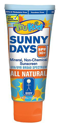 The new TruKid Sunny Days Mineral All Natural Sunscreen ($20) is quickly becoming a favorite around here. The mineral-based lotion, which uses zinc oxide as its sunblock, received the EWG's highest rating, for its nontoxic, nonnano, and gluten-free formula.