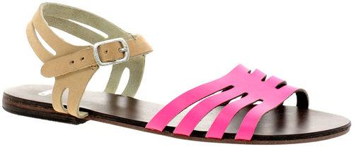 ASOS FIREWORK Leather Flat Sandals