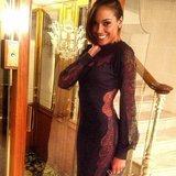 Selita Ebanks showed off a seriously sexy lace number by Roberto Cavalli. Source: Instagram user selitaebanks