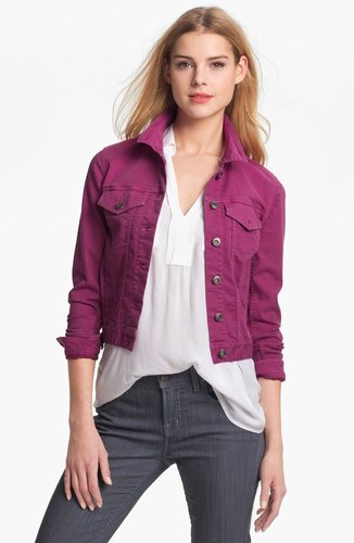 Two by Vince Camuto Colored Denim Jacket (Petite)