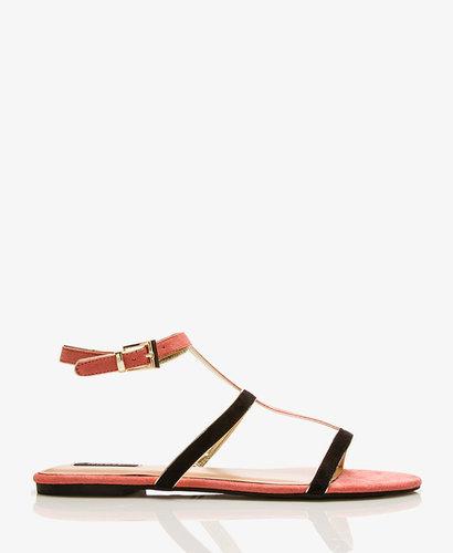 FOREVER 21 Colorblocked Gladiator Sandals