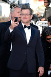 Matt Damon snapped a photo on his phone.