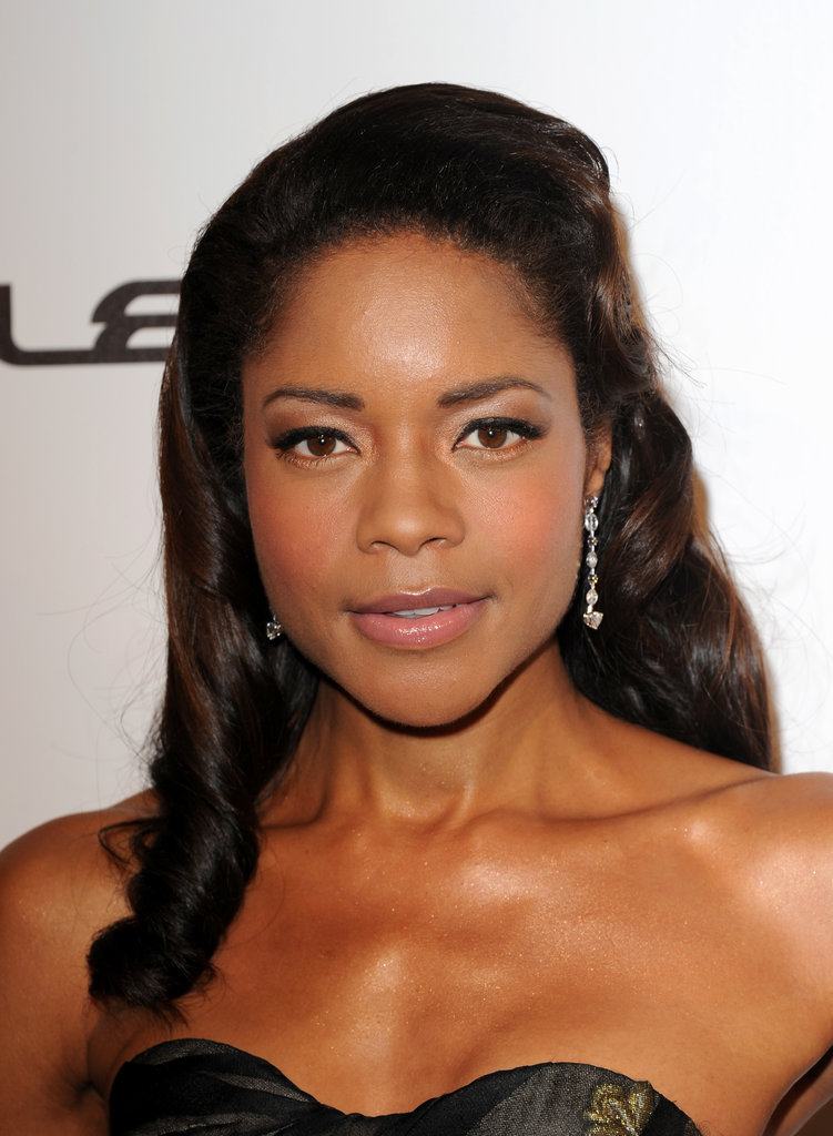 Naomie Harris opted for a vintage-inspired coif for the Weinstein Company party in Cannes.