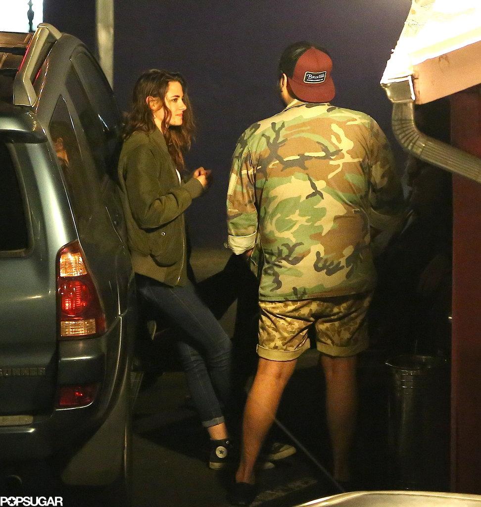 Kristen Stewart had dinner with friends in LA's Silverlake neighborhood just days after splitting from Robert Pattinson.
