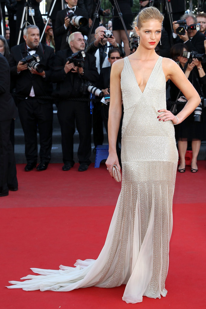 Erin Heatherton wore Roberto Cavalli at the Cannes premiere of Behind the Candelabra.