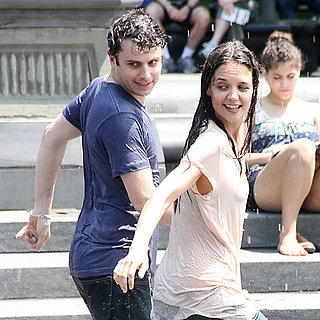 Katie Holmes and Luke Kirby Get Wet in NYC Fountain