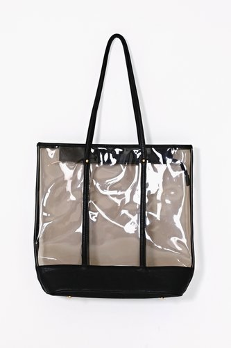 Clear Contrast Tote