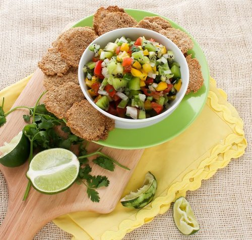 Kiwi Cilantro Salsa with Amaranth Chips