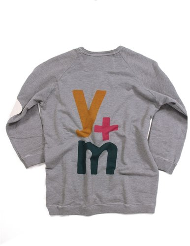 FREECITY Y + M Elbow Patch Raglan Sweatshirt