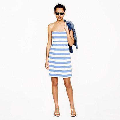 Stripe strapless dress