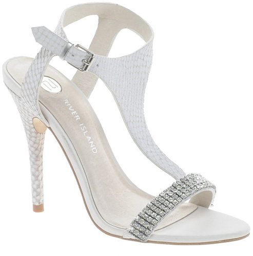 River Island Rhinestone T Bar Sandals
