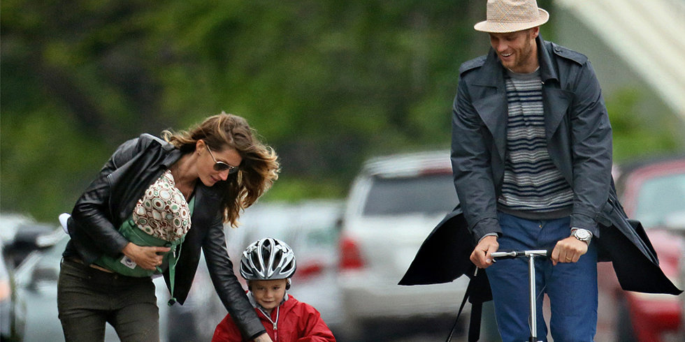 Tom and Most Powerful Gisele Scoot Around Boston With Ben and Vivian