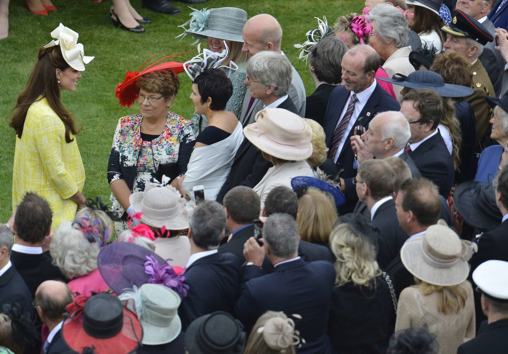 Kate was very popular at the Buckingham Palace event.