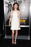 Nora Zehetner didn't need much more than her little white dress and metallic sandals at the Now You See Me NYC premiere.