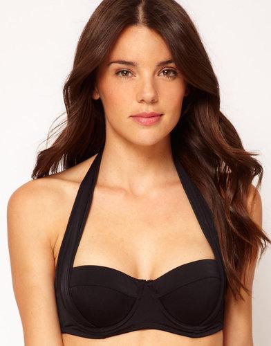 ASOS Mix and Match 50s Halter Padded Fuller Bust Bikini Top D-F