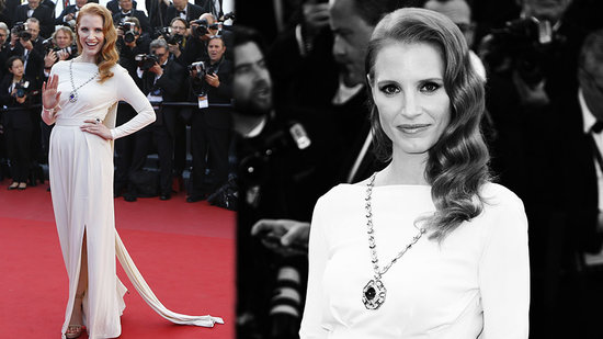 Jessica Chastain Gets Glam in Elizabeth Taylor's Jewelry