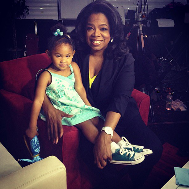 Christina Milian shared a sweet photo when her daughter, Violet, met Oprah Winfrey. S