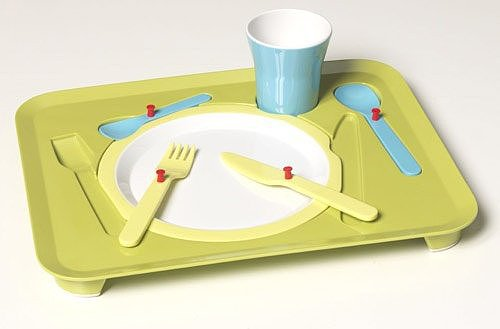 Zak Designs Puzzle Dinner Tray