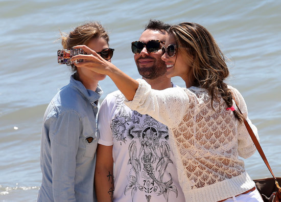 Alessandra Ambrosio used her cell phone on Wednesday to document her Cannes trip while sightseeing with friends.