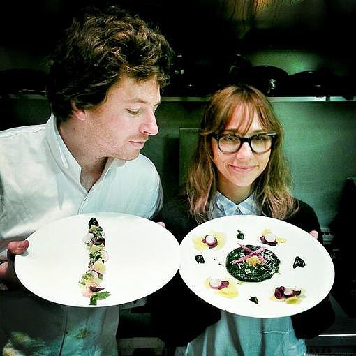 Rashida Jones got a private cooking lesson from French chef Jean Imbert. Source: Twitter user iamrashidajones