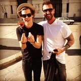 Harry Styles thanked his Italian tour guide, Paolo, for showing him around Milan. Source: Instagram user harrystyles